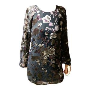 Floral Velvet Bell Dress (Small)